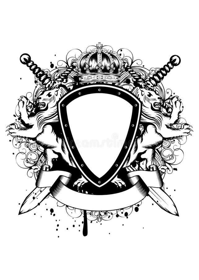 Крона львов доски иллюстрация вектора