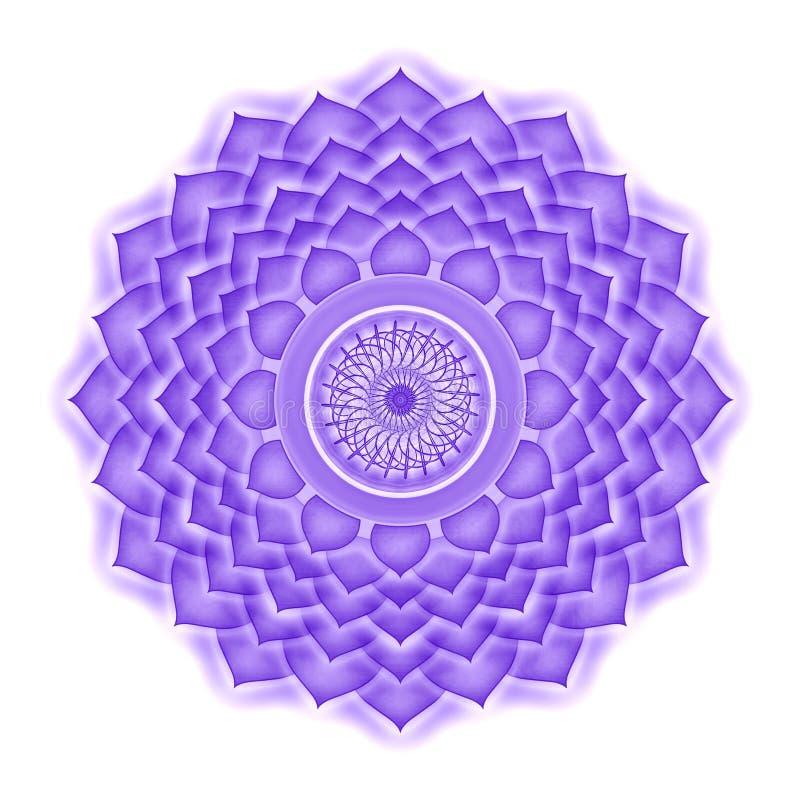 Крона Chakra изолировала иллюстрация вектора