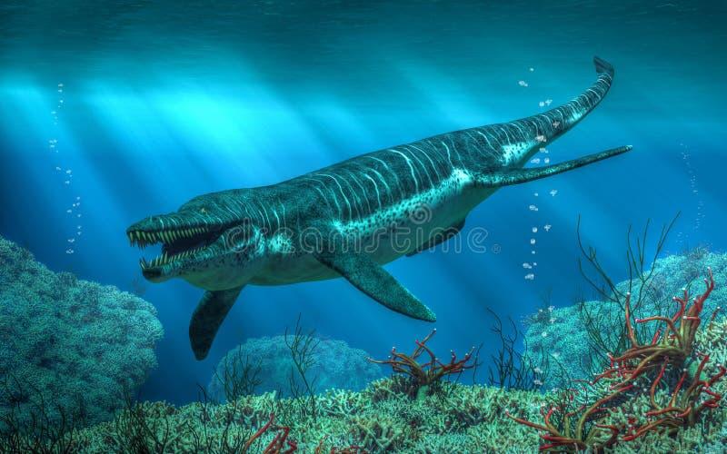 Кронозавр иллюстрация вектора