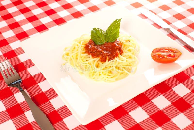 Крошечная часть спагетти стоковые фотографии rf