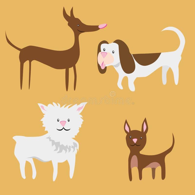 Крошечные собаки иллюстрация штока