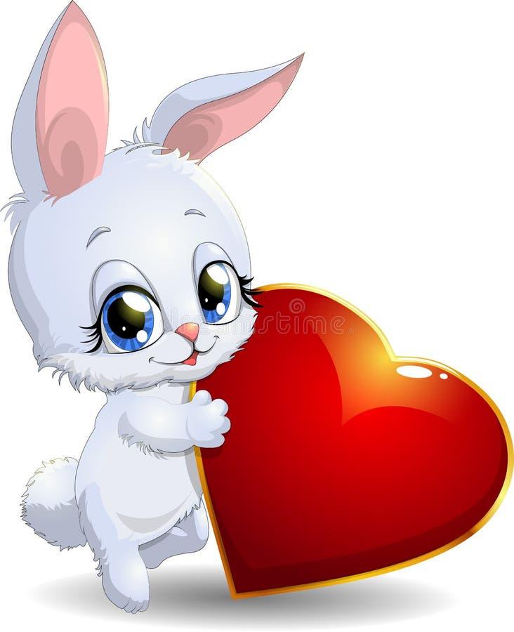 Кролик и сердце бесплатная иллюстрация