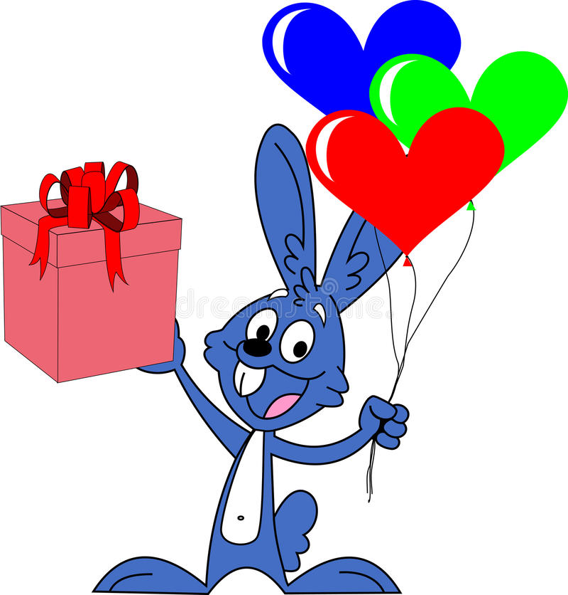 Кролик дня валентинок стоковые изображения