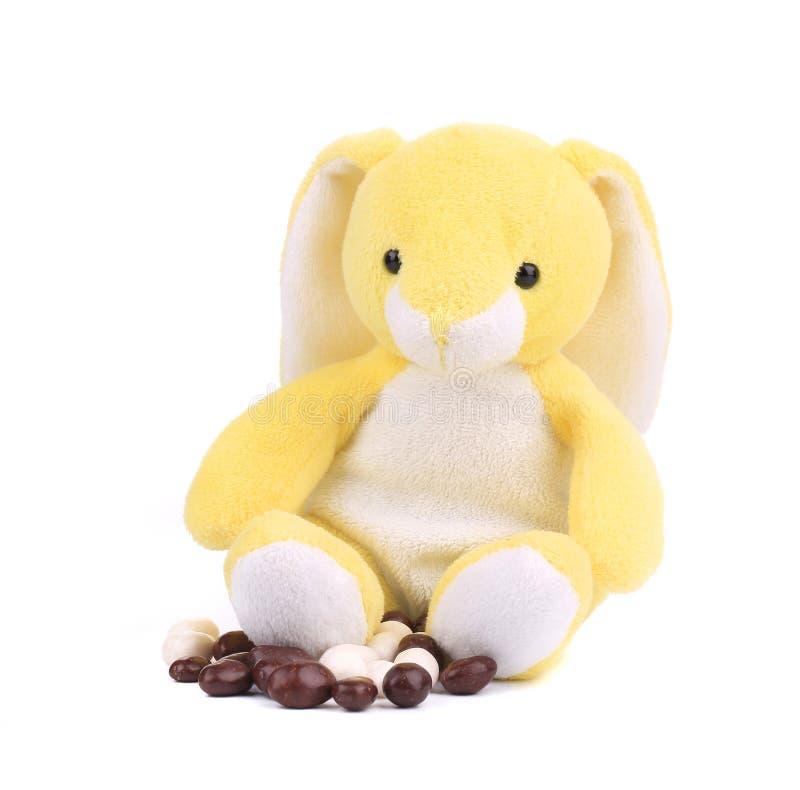 Кролик пасхи и конфета шоколада стоковая фотография rf