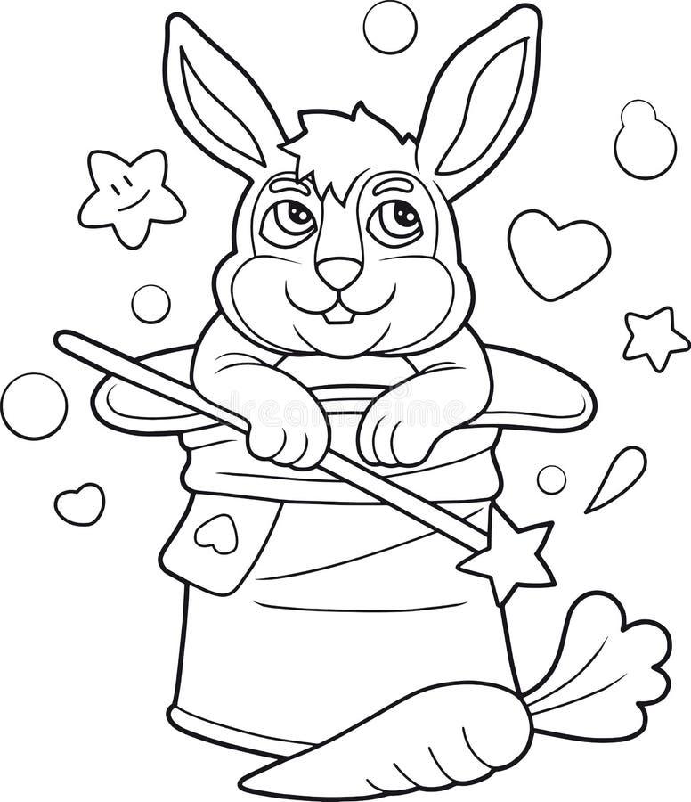Кролик сидит в шляпе иллюстрация штока