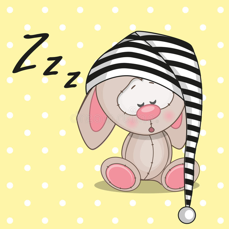 Кролик спать иллюстрация вектора