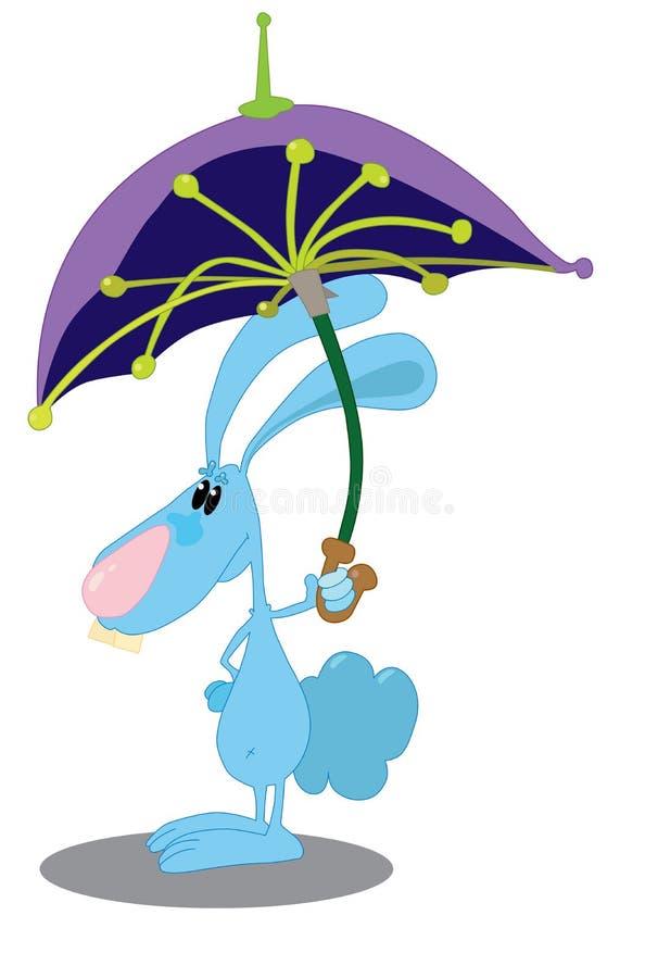 Кролик с зонтиком Стоковая Фотография