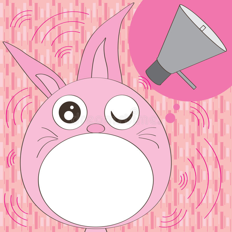 Кролик слышит для того чтобы поговорить иллюстрация вектора