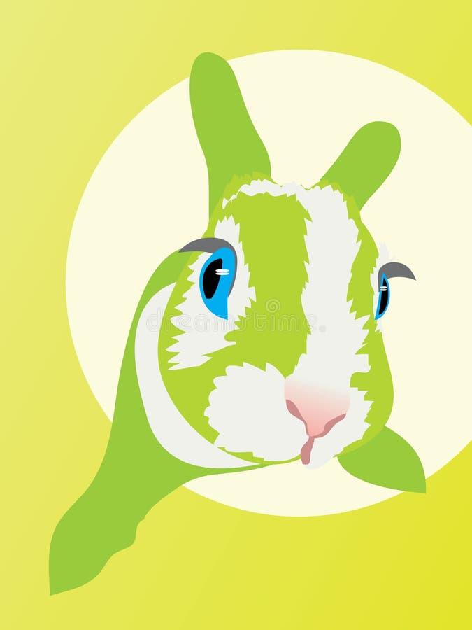 Кролик упал страх глаза зайчика испуга животный иллюстрация штока