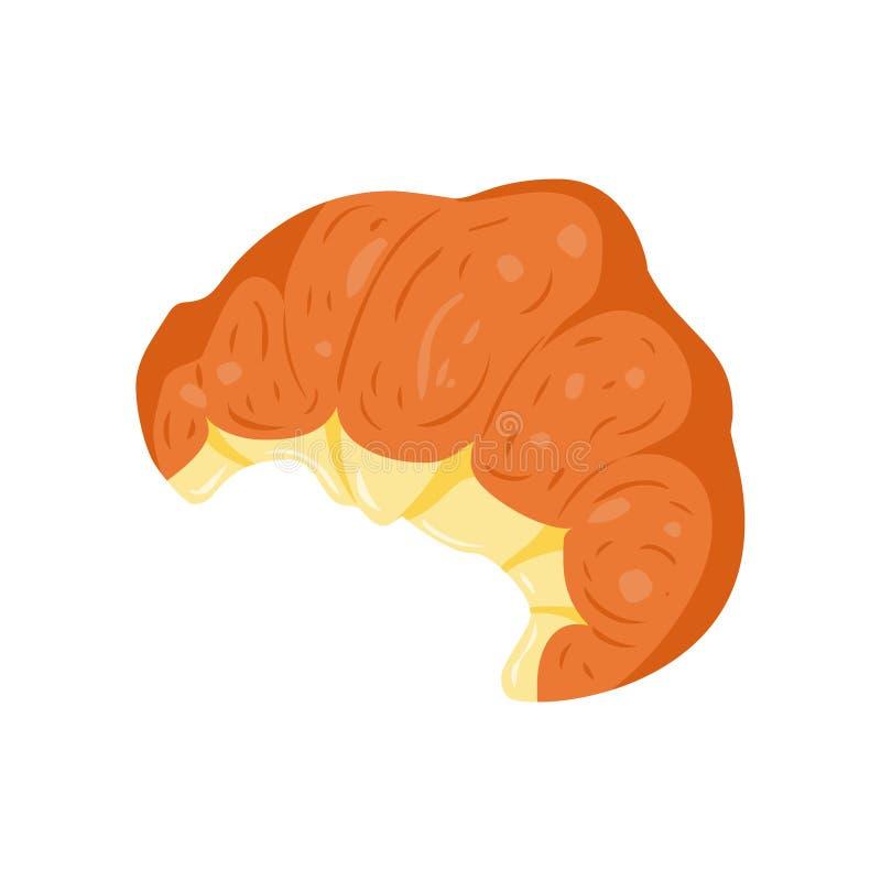 Круассан Иллюстрация вектора испеченной еды бесплатная иллюстрация