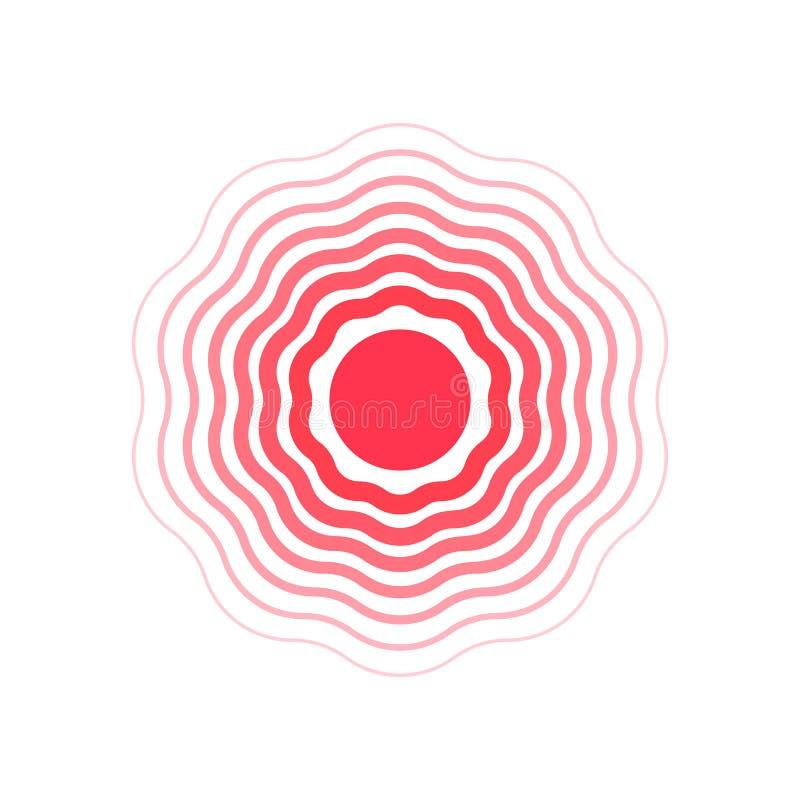 Круги вектора, символ боли Плоская иллюстрация иллюстрация вектора