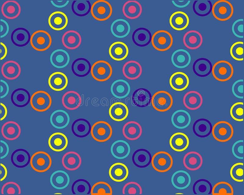 Круги других цветов и размеров на темной предпосылке иллюстрация вектора