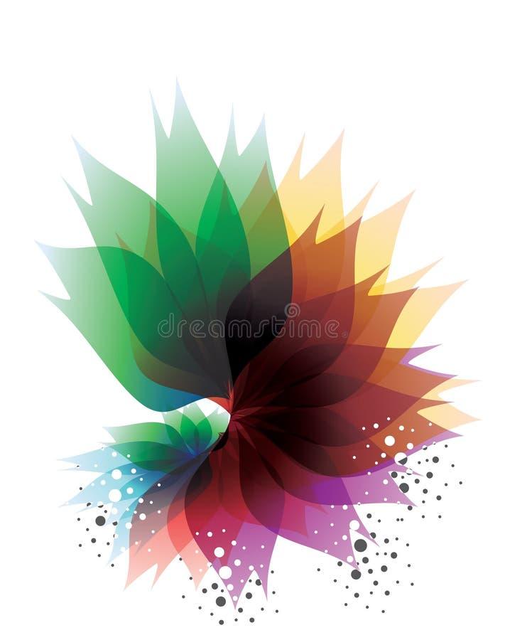 Круги и цветки иллюстрация вектора