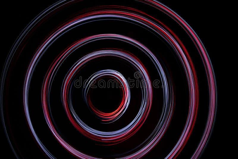 Круги красных и белого света стоковое изображение rf
