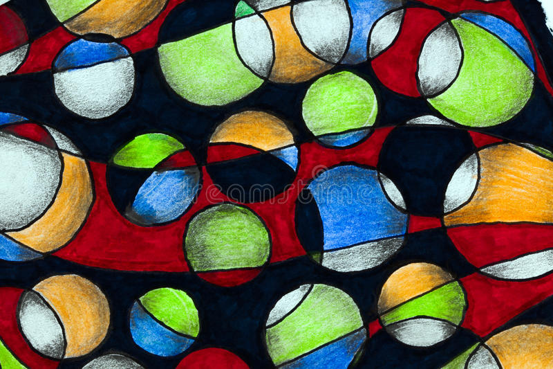Круги нарисованные рукой бесплатная иллюстрация