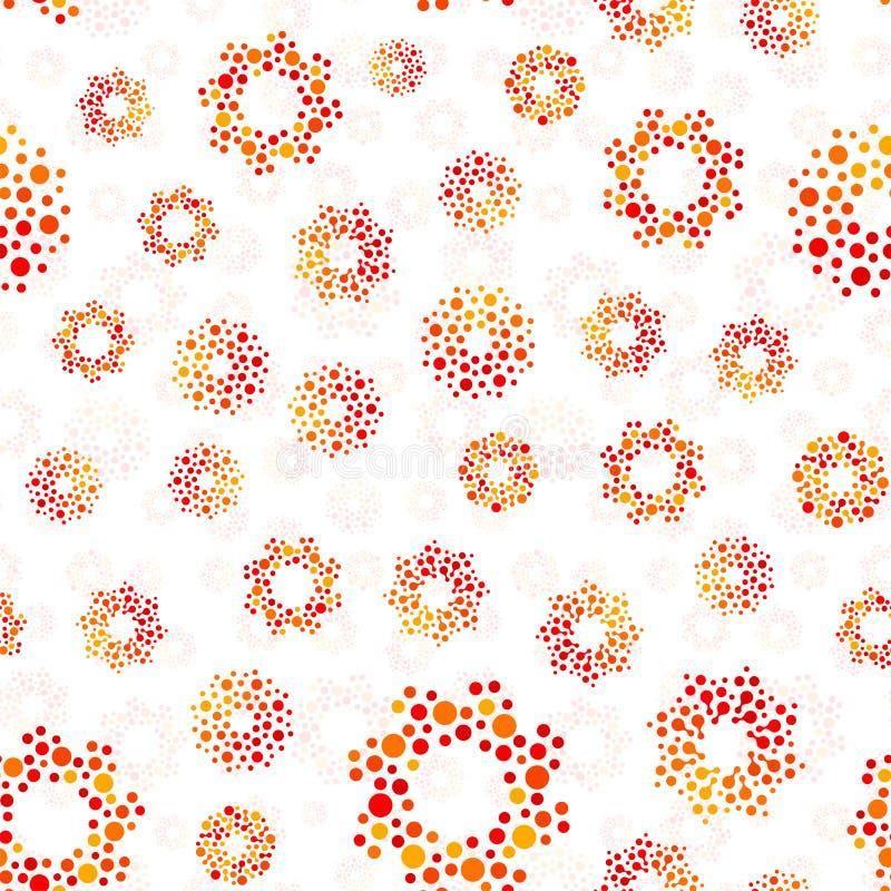 Круги оранжевого конспекта цвета безшовные конструируют картину необыкновенную Предпосылка округлых форм вектора repeatable бесплатная иллюстрация