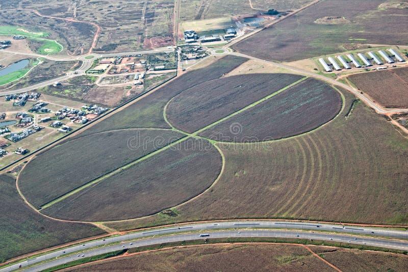 Круги полива земледелия стоковые фото