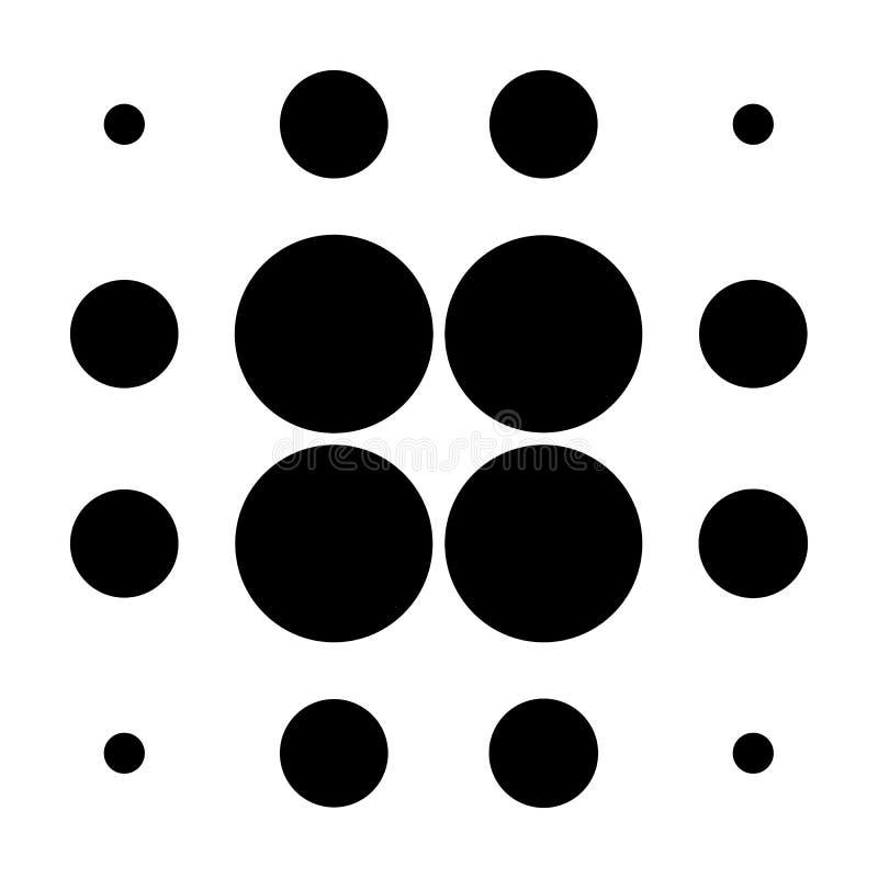 Download Круги полутонового изображения, картина точек полутонового изображения Monochrome полутоновое изображение Иллюстрация вектора - иллюстрации насчитывающей элемент, monochrome: 81802314