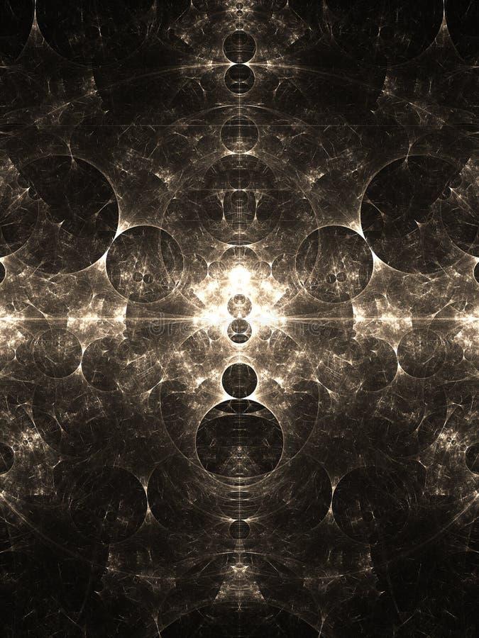 Круги раскрывать аранжировали в картине фрактали иллюстрация штока
