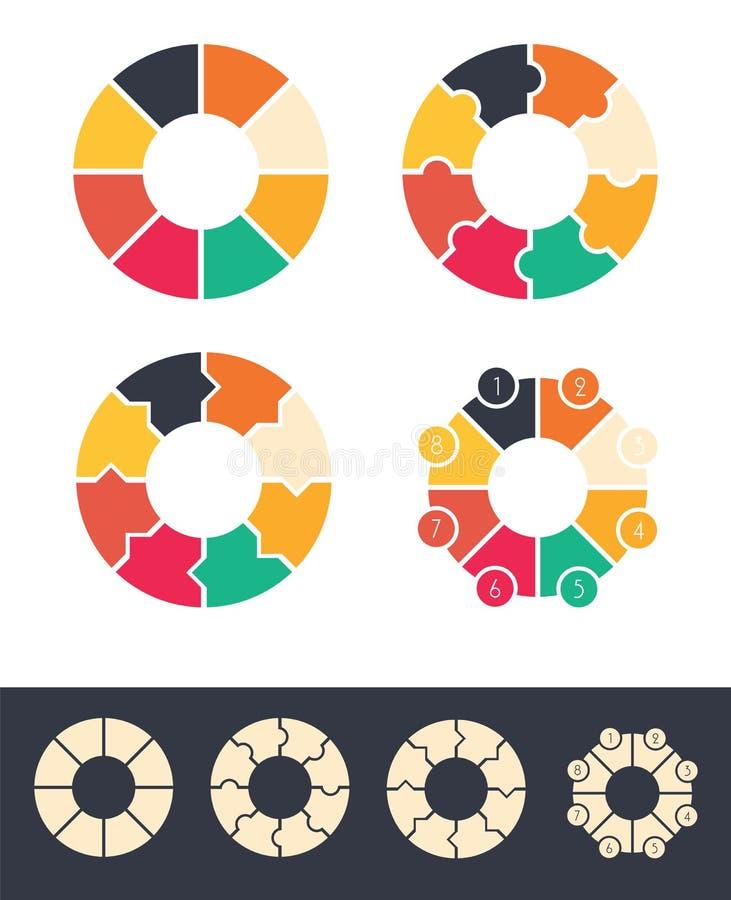 Круги для infographic комплекта бесплатная иллюстрация