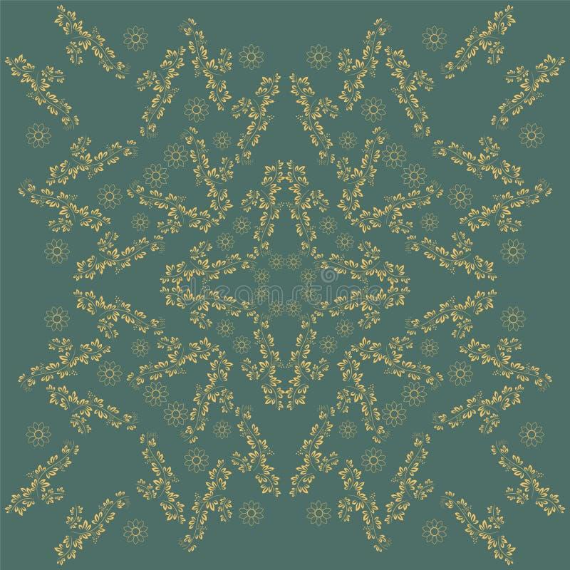 Круглая картина орнамента декоративный сбор винограда элементов Красивый орнамент можно использовать как поздравительная открытка иллюстрация штока