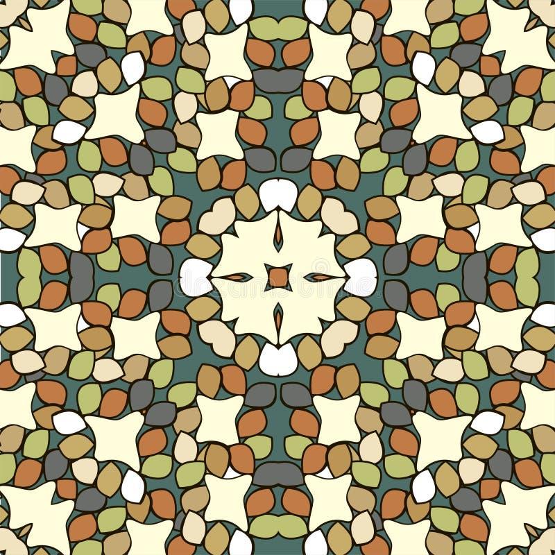 Круглая картина орнамента декоративный сбор винограда элементов иллюстрация вектора