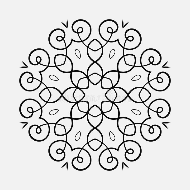Круглая картина орнамента стоковые изображения