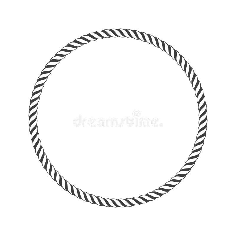 Круглая морская веревочка иллюстрация вектора