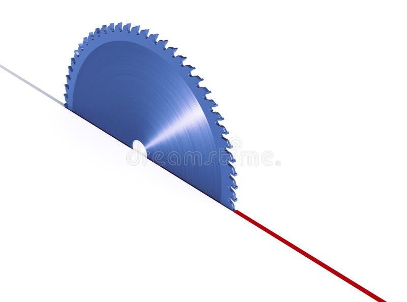 круглая пила лезвия иллюстрация вектора
