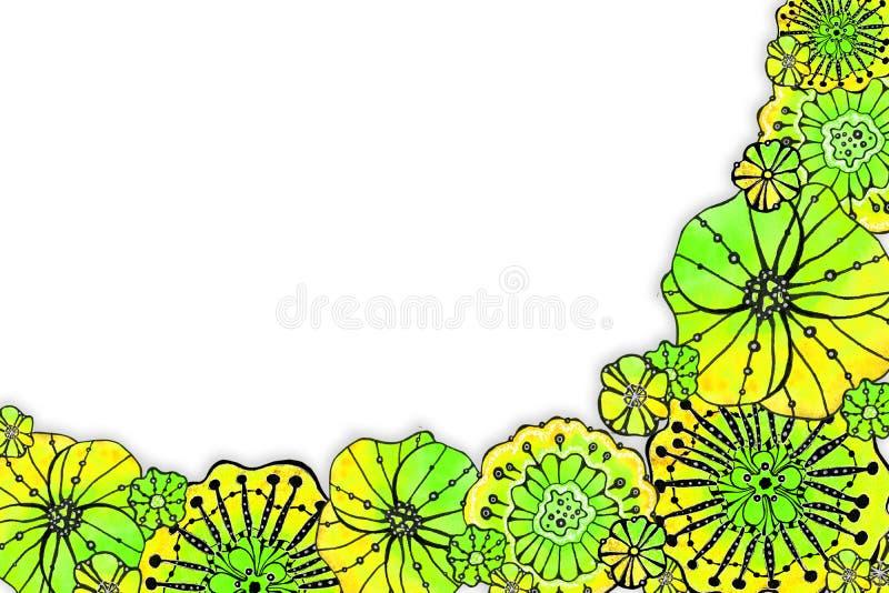 Круглая рамка мака цветков E стоковые изображения rf