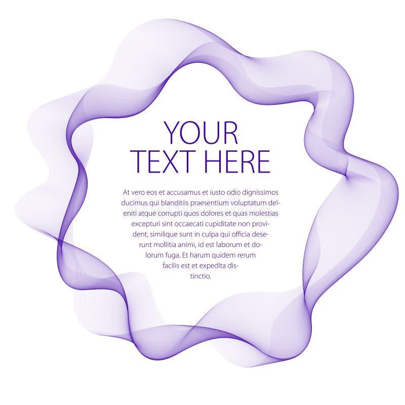 Круглая рамка пропуская дыма Vector абстрактная художническая красивая предпосылка с космосом экземпляра для текста Изолировано н иллюстрация штока