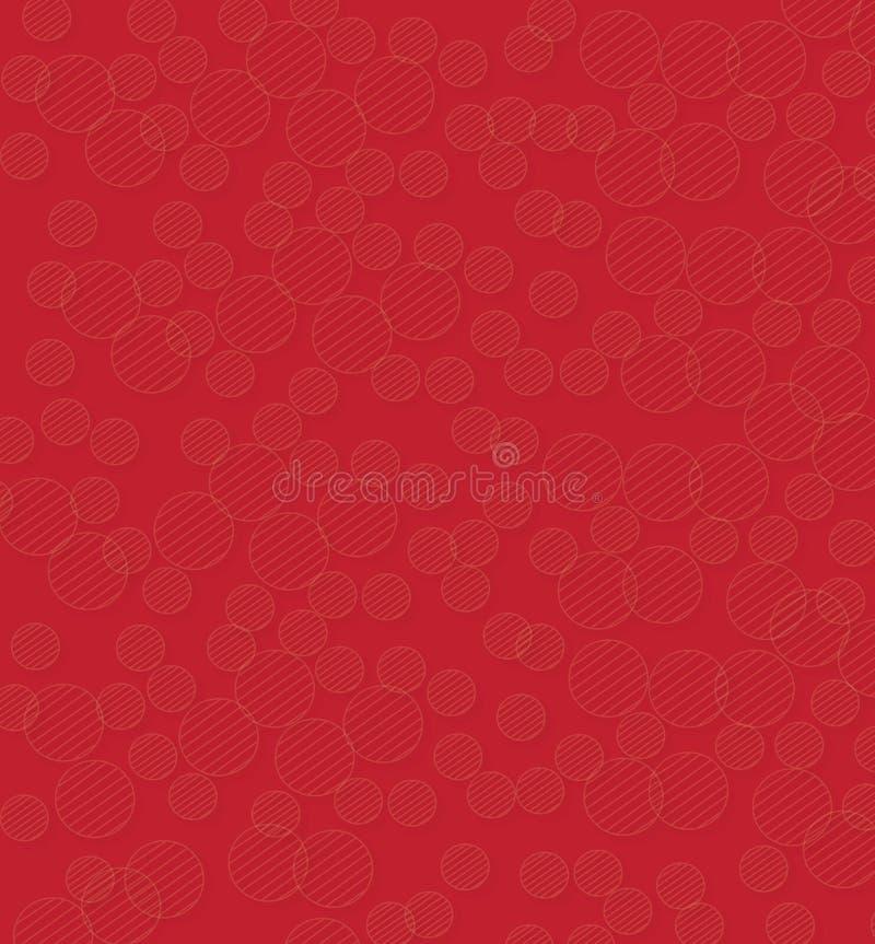 Круглая снежинка на красной предпосылке иллюстрация штока