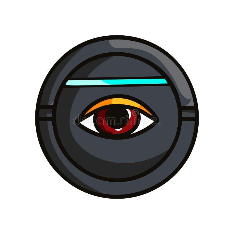 Круглое обеспечивающее защиту приспособление которое радужка человеческого глаза развертки иллюстрация штока