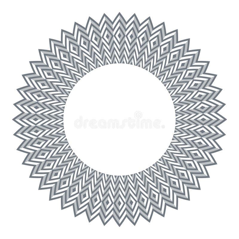 Кругло-геометрический элемент проектирования 3d иллюзия иллюстрация штока