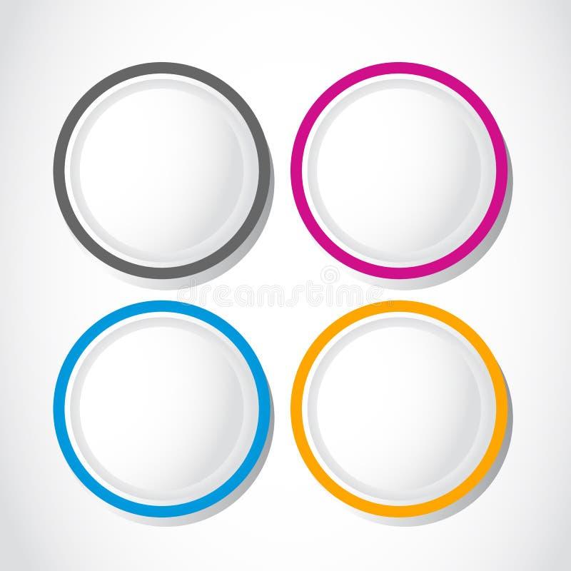Круглые кнопки варианта иллюстрация вектора