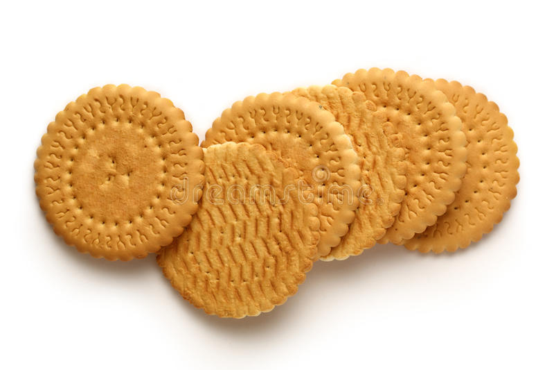 Круглые печенья стоковое фото