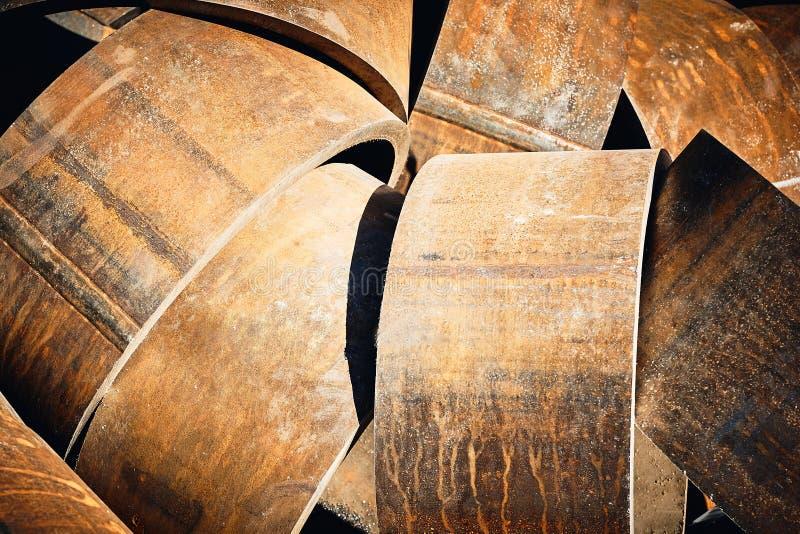 Круглые стальные заготовки для свертывая труб металла стоковые изображения rf