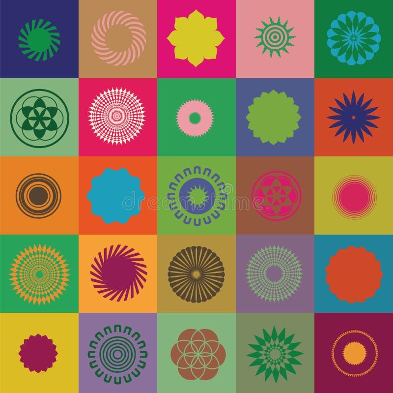 Круглые элементы и символы бесплатная иллюстрация