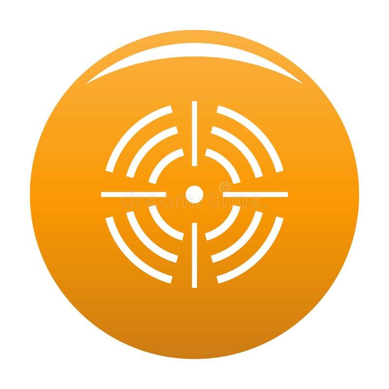 Круглый апельсин значка цели иллюстрация вектора