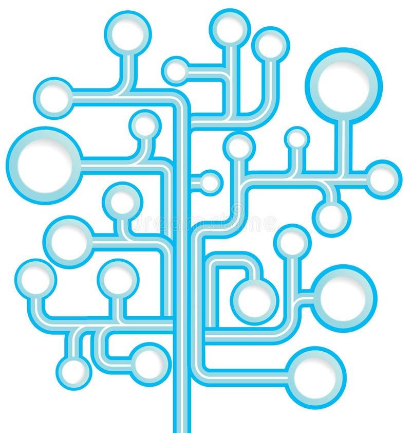 Круглый вектор дерева пузыря речи иллюстрация вектора