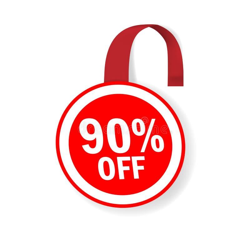 Круглый красный wobbler продажи Круг бирки Promo Dangler ярлыка цены продвижения стоковые изображения rf