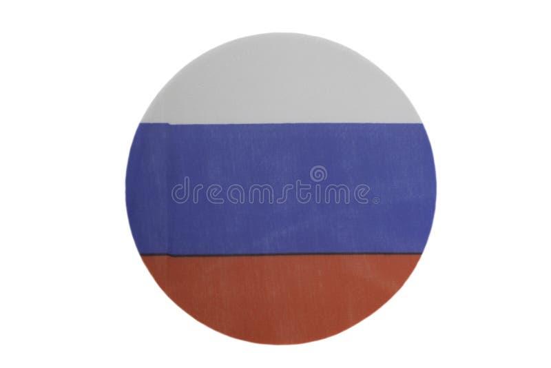 Круглый национальный флаг России стоковое фото