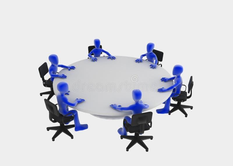 круглый стол встречи иллюстрация вектора