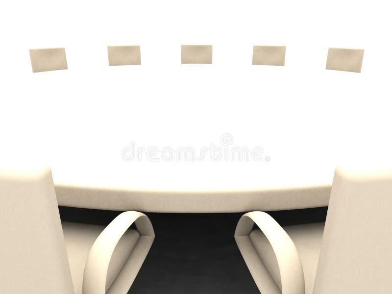 круглый стол 3 бесплатная иллюстрация