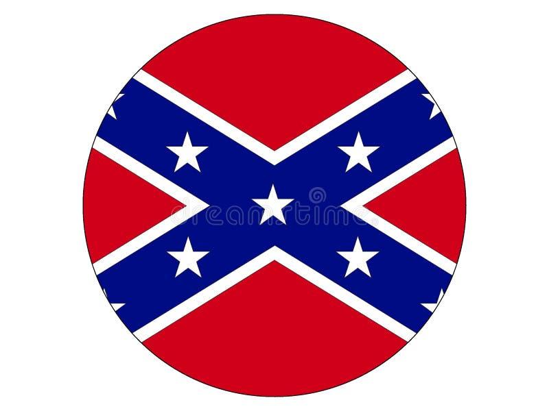 Круглый флаг конфедерации иллюстрация вектора