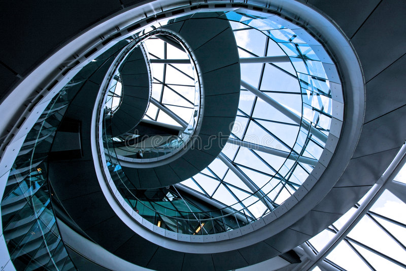 круглый stairway 2 стоковое фото