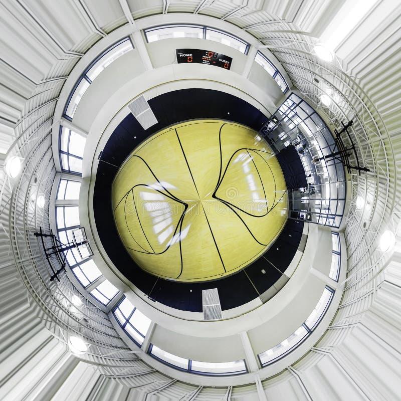 Круговая баскетбольная площадка стоковая фотография rf