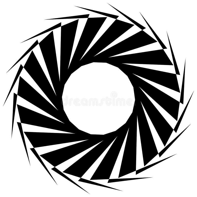 Download Круговая геометрическая форма Абстрактный Monochrome спиральный элемент Иллюстрация вектора - иллюстрации насчитывающей кругово, форма: 81804708