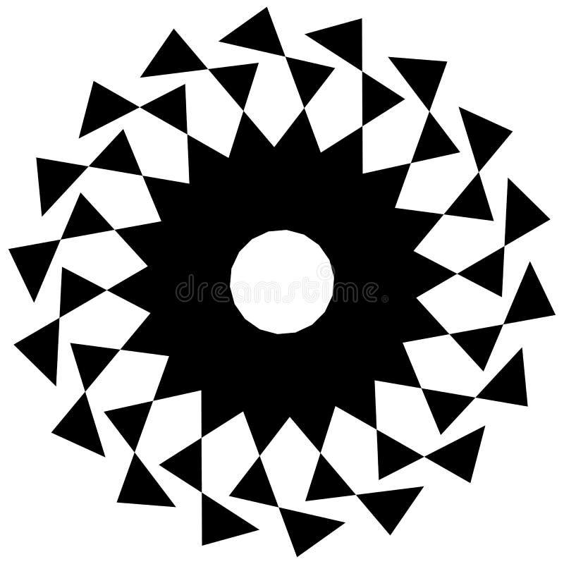 Download Круговая геометрическая форма Абстрактный Monochrome спиральный элемент Иллюстрация вектора - иллюстрации насчитывающей angiosperms, ангидрина: 81804709