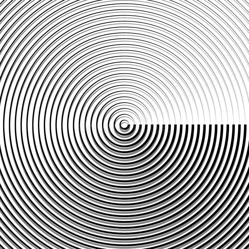 Download Круговая картина пульсации, концентрические круги, звенит абстрактное Geom Иллюстрация вектора - иллюстрации насчитывающей радиально, влияние: 81813565
